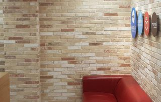 בריקים רטרו מסוגנן לחיפוי קירות פנים