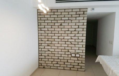 בריקים מפירוק לבן קיר בסלון