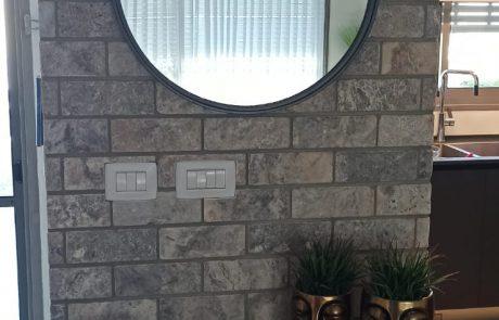 אבן טבעית אפור - חיפוי קיר פנימי
