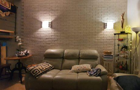 אבן טבעית בוסקו - חיפוי בריקים בסלון