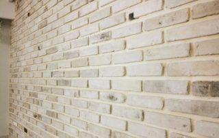 בריקים מפירוק לבן חזית צרה - חיפוי אבן פנים