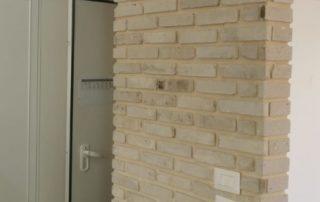 בריקים מפירוק לבן חזית צרה - חיפוי קיר פנימי
